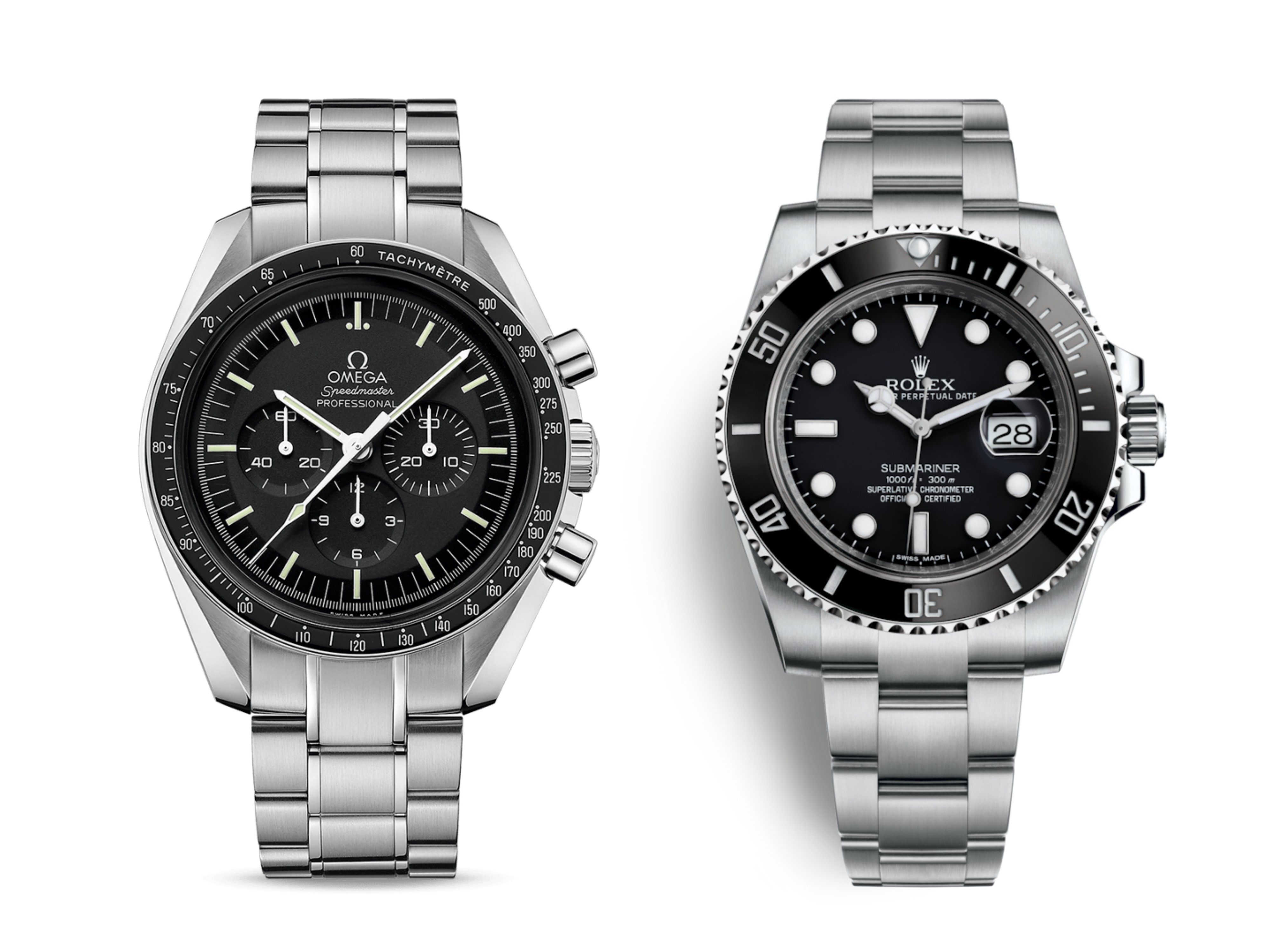 e49ec3df953 Rolex Submariner vs Omega Speedmaster Moonwatch: clash of the titans ! -  Perpetual Passion
