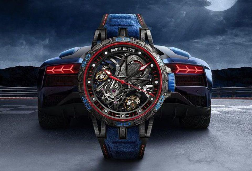 This image has the empty alt attribute; the file name is https___blogs-images.forbes.com_msolomon_files_2018_02_Roger-Dubuis-Excalibur-Aventador-S-Blue-737x500.jpg