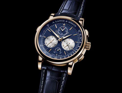 Introducing A. Lange & Söhne Triple Split in oro rosa con quadrante blu