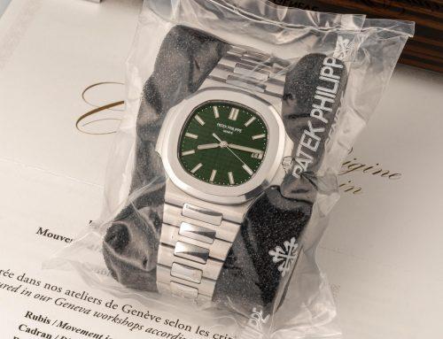 """Il Patek Philippe Nautilus 5711 """"Quadrante verde"""" è stato venduto da Antiquorum per 320'000 Euro"""