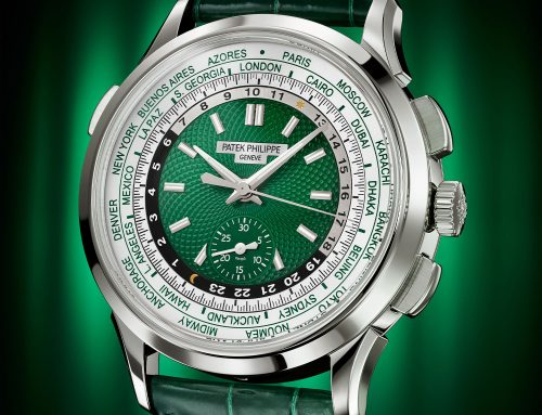 Introducing Patek Philippe World-Time Chronograph 5930P in Platinum with Green Dial